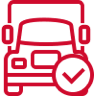 Truck checked icon