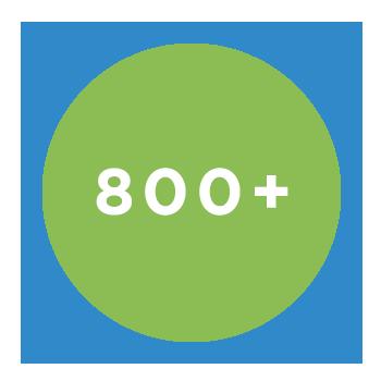 800+ Companies
