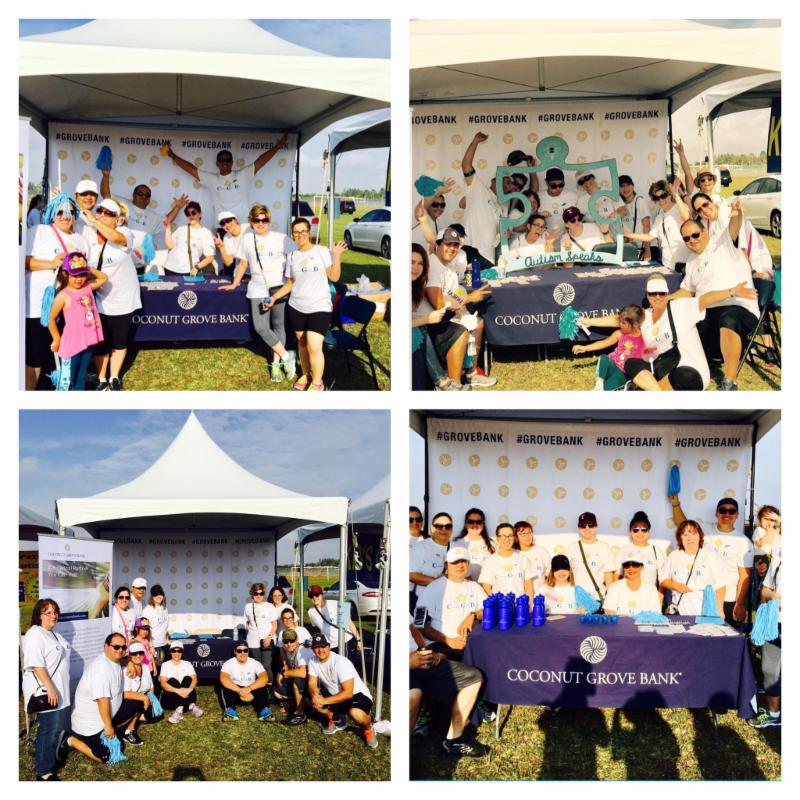 Coconut Grove Bank staff at a community event