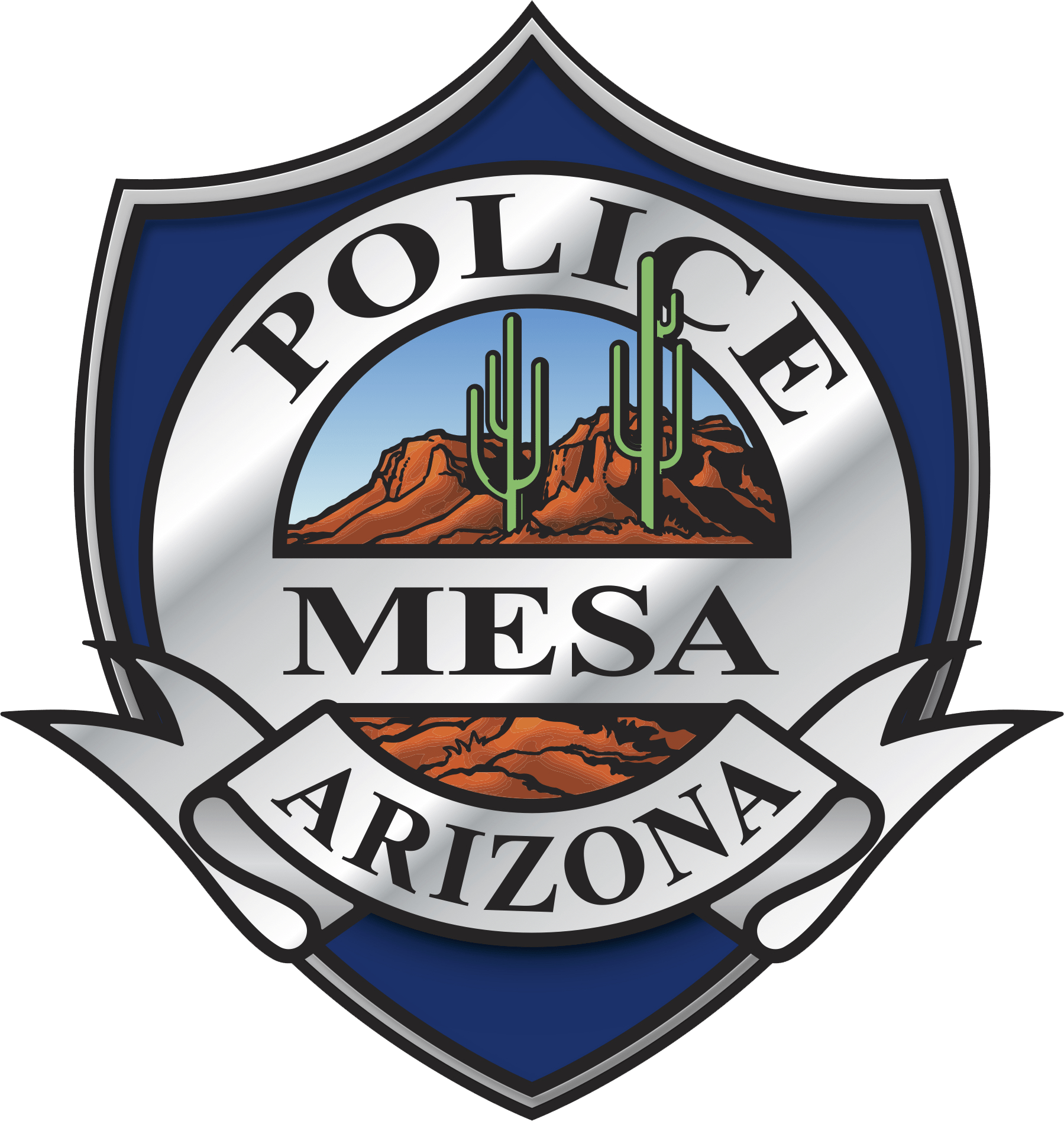 mesa pd shield logo