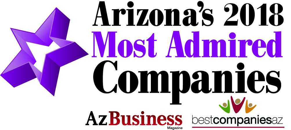 Arizona's 2018 Most Admired Companies Award