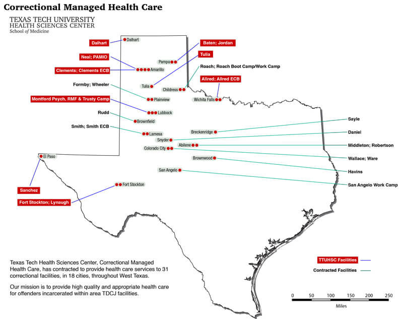 Map Of Texas Tech.Texas Tech University Health Sciences Center Managed Care Jobs