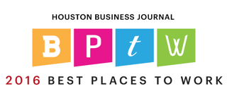 Award: Houston Business Journal 2016 Best Places to Work