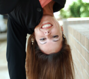 Katie S funny photo (she's upside down)