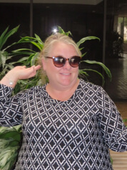 LaDonna H funny photo (she is wearing sunglasses and making a funny pose)