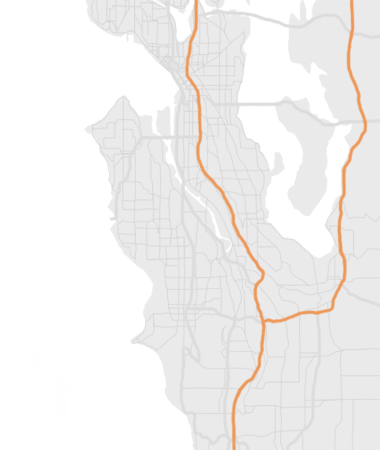 map of Seattle greater area