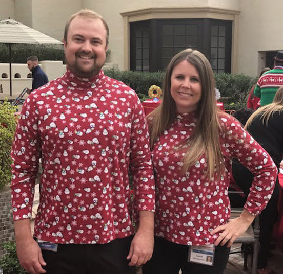 Holiday matching turtlenecks